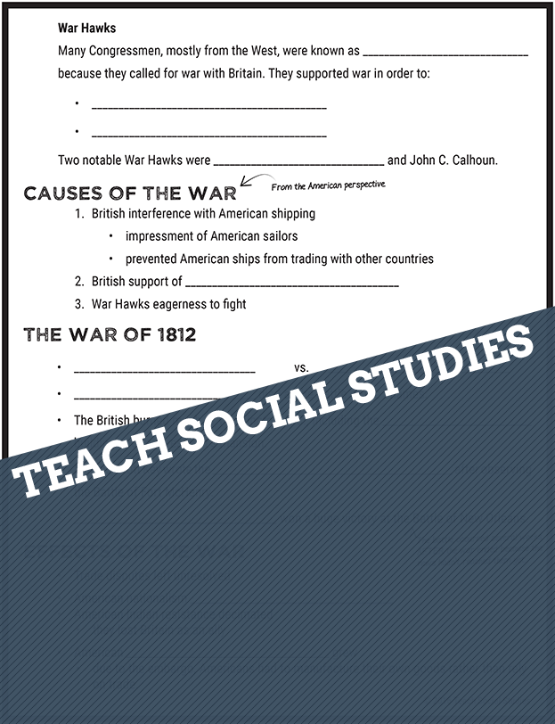 war of 1812 notes Summary: the war of 1812 name date chapter 10, lesson 3 trouble with britain in 1808, britain and france were at warthe us did not take either side, but britain.