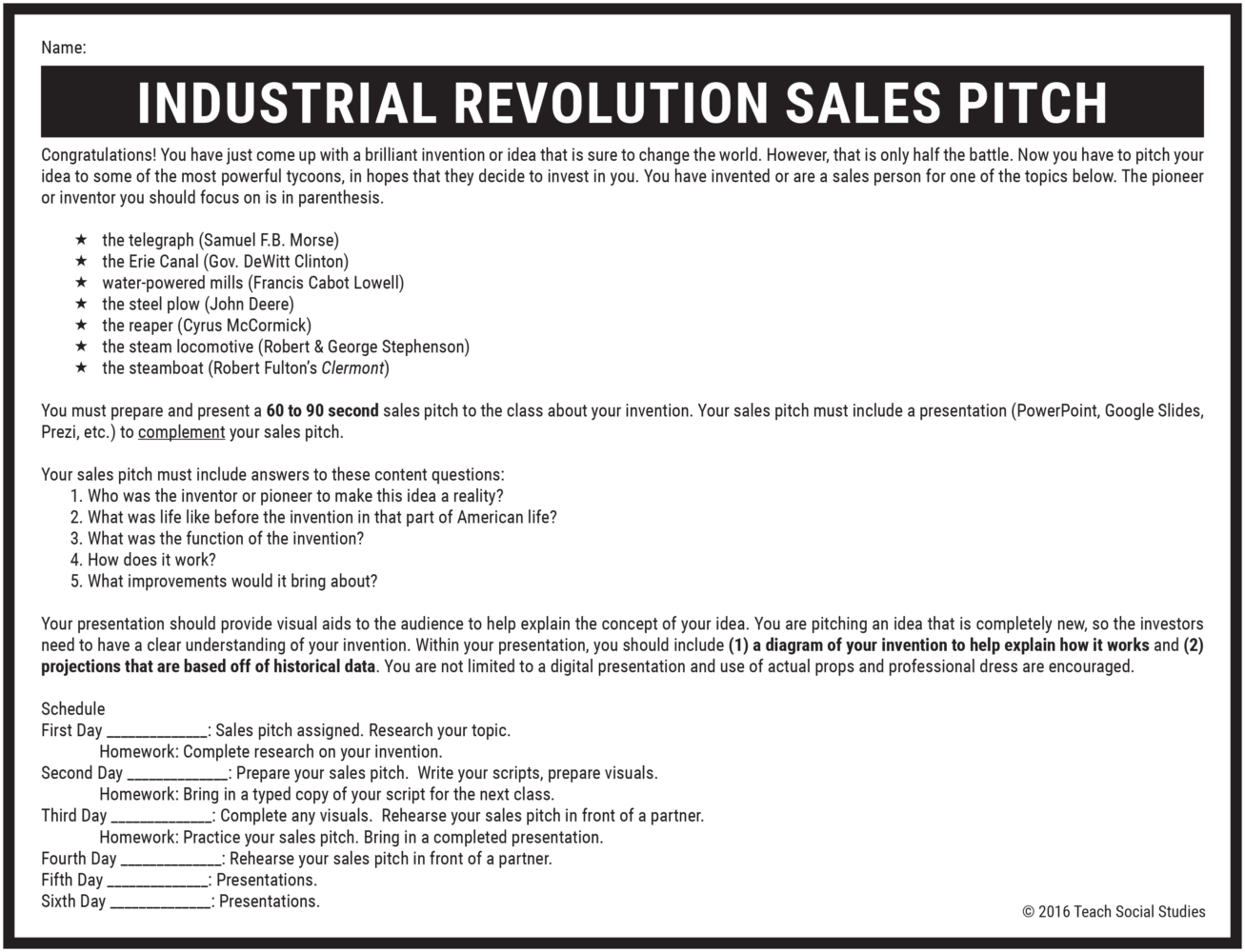 Industrial Revolution Sales Pitch LP