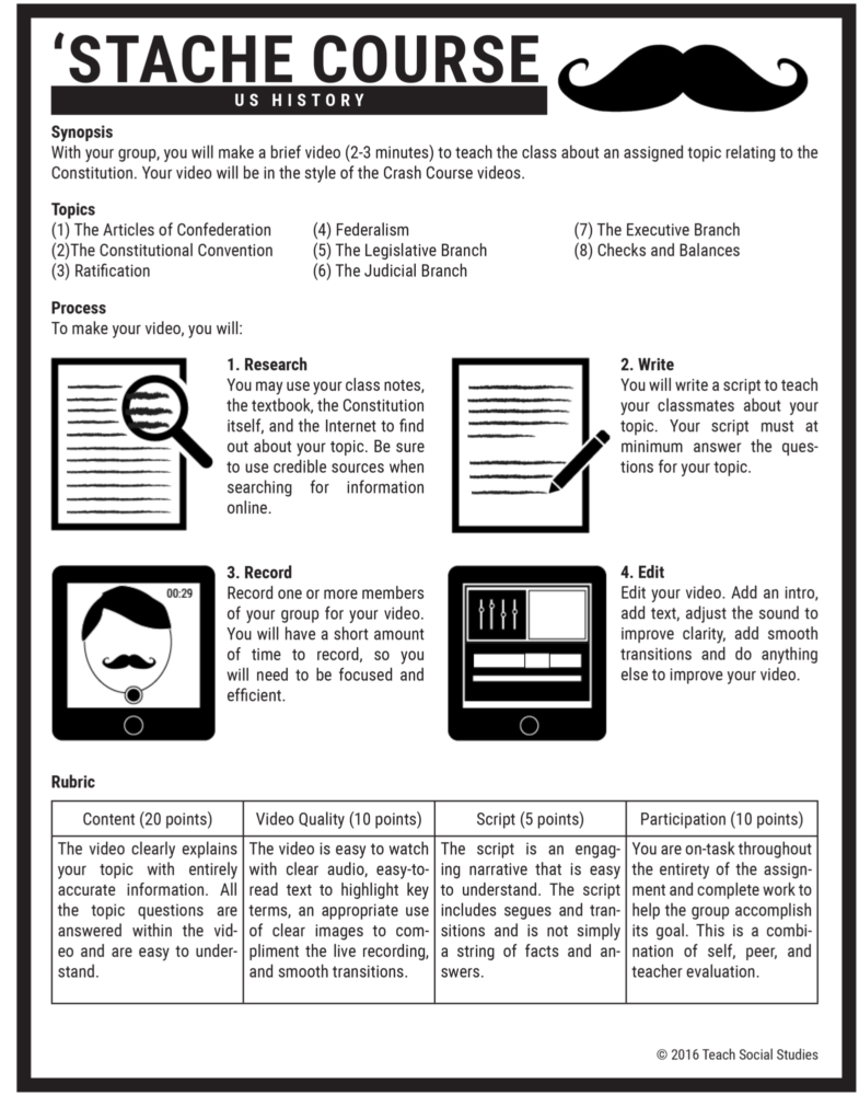 Stache Course Assignment Page LP